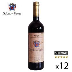 """Vino Tinto Crianza """"Señorío de Urarte"""" D.O. Rioja - Caja de 12 Botellas"""