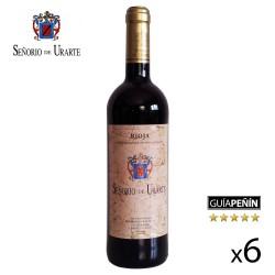 """Vino Tinto Crianza """"Señorío de Urarte"""" D.O. Rioja - Caja de 6 Botellas"""