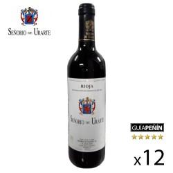 Vino Tinto Joven Señorío de Urarte D.O. Rioja - Caja de 12 Botellas
