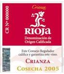 etiqueta vino rioja crianza