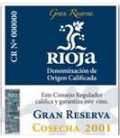 etiqueta vino rioja gran reserva