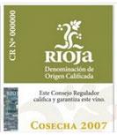 etiqueta vino rioja joven