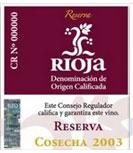 etiqueta vino rioja reserva